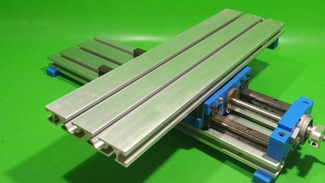 Homemade Y Axis Slide DIY Milling Base Machine